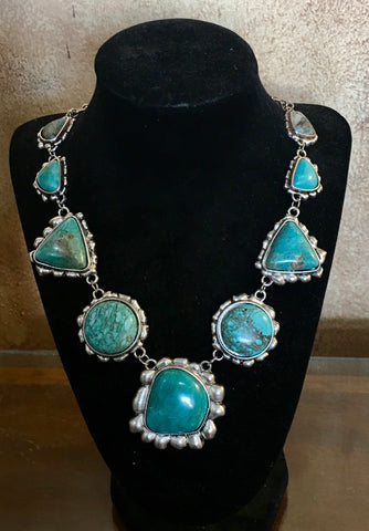 Flashy Faux Turquoise necklace