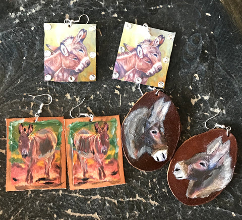 Hand Painted Donkeys