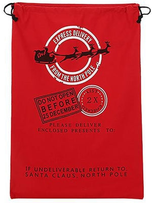 Express Delivery Santa Sack - Red