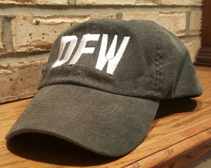 DFW Airport Code Hat - Embroidered Dallas/Fort Worth International Airport Cap - DFW Baseball Hat