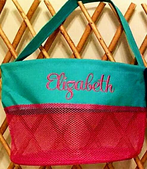 Personalized Mesh Seashell Beach Bucket