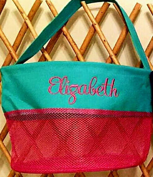 Personalized Mesh Seashell Bucket