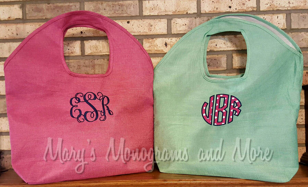 FREE SHIPPING - Embroidery Monogrammed Jute Beach Bag - Personalized Tote Bag - Vacation, beach, summer, pool, waterproof, custom monogram