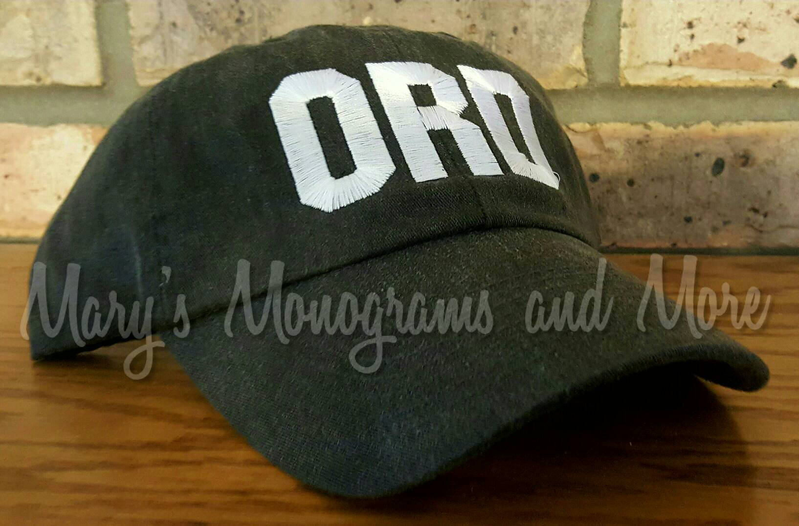 ORD Airport Code Hat - Embroidered Chicago Baseball Hat - O'Hare International Airport Ball Cap