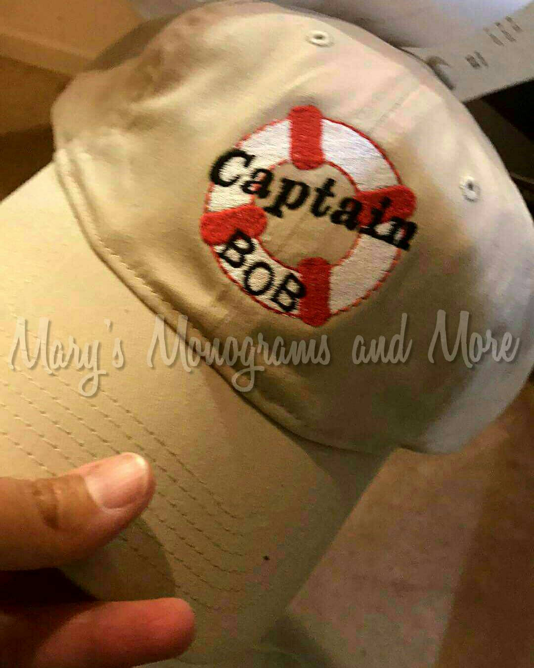 Personalized Captain Baseball Hat