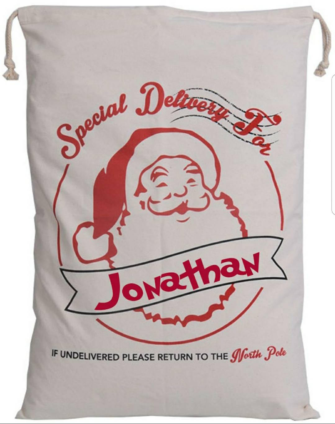 Free Shipping - Embroidered Santa Sack, personalized, monogrammed, family name, extra large santa gift, present, toys sack bag