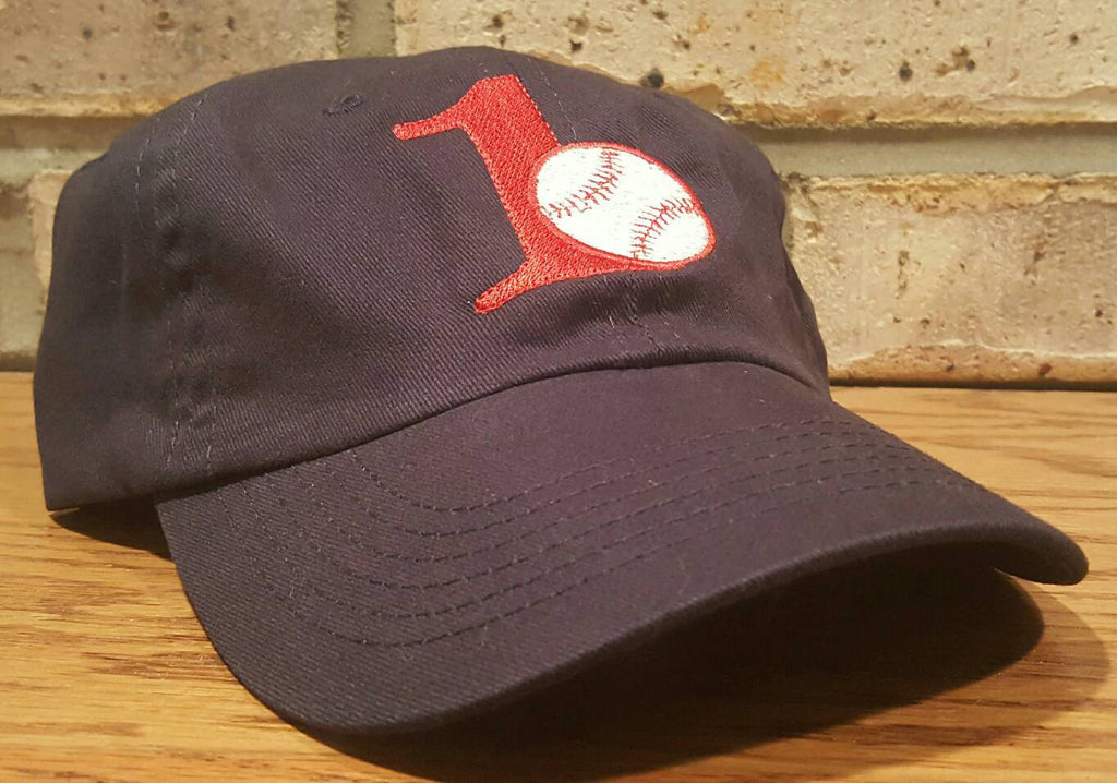 Free Shipping - Embroidery Personalized Newborn/Infant/Toddler/Youth Number Baseball Hat-  First Birthday Hat - Embroidered Letter Ball Cap