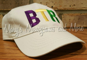 FREE Shipping - BTR Airport Code Hat - Baton Rouge Metropolitan Airport - Louisiana Baseball Cap - Mardi Gras Hat - Personalized Trucker Hat