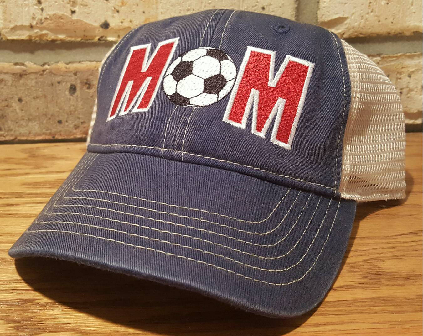 Mom Soccer Ball Trucker Hat