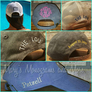 Soccer MOM Distressed Trucker Hat - Sports Mom Hats - Baseball Mom - Hockey Mom- Softball Mom - Basketball Mom - Football Mom