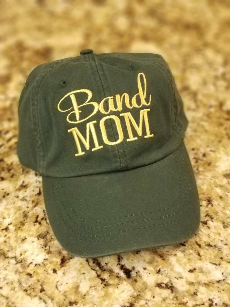 Band MOM Hat, Orchestra, Music, Choir, Drum, Band MOM Embroidered Baseball or Trucker Hat, Can be personalized