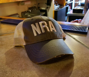 NRA Hat, National Rifle Association Embroidered Trucker or Baseball Hat, Second Amendment Rights, Gun, Firearm, Hunting, Right To Carry Hat