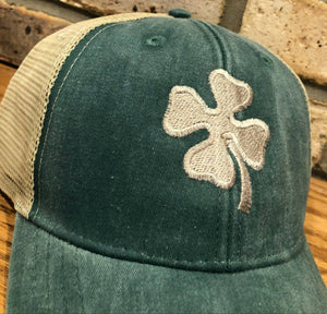 4 Leaf Clover Hat - Shamrock, Four Leaf Clover, St. Patrick's Day, Luck of the Irish, Embroidery Personalized, Monogrammed, St. Patty's Hat