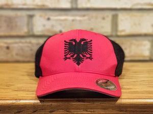 Flag Hat - Embroidered Father Son Matching Flag Hat, You Pick The Flag and Country, USA, Albania, Canada, Mexico, Italy, England, and More