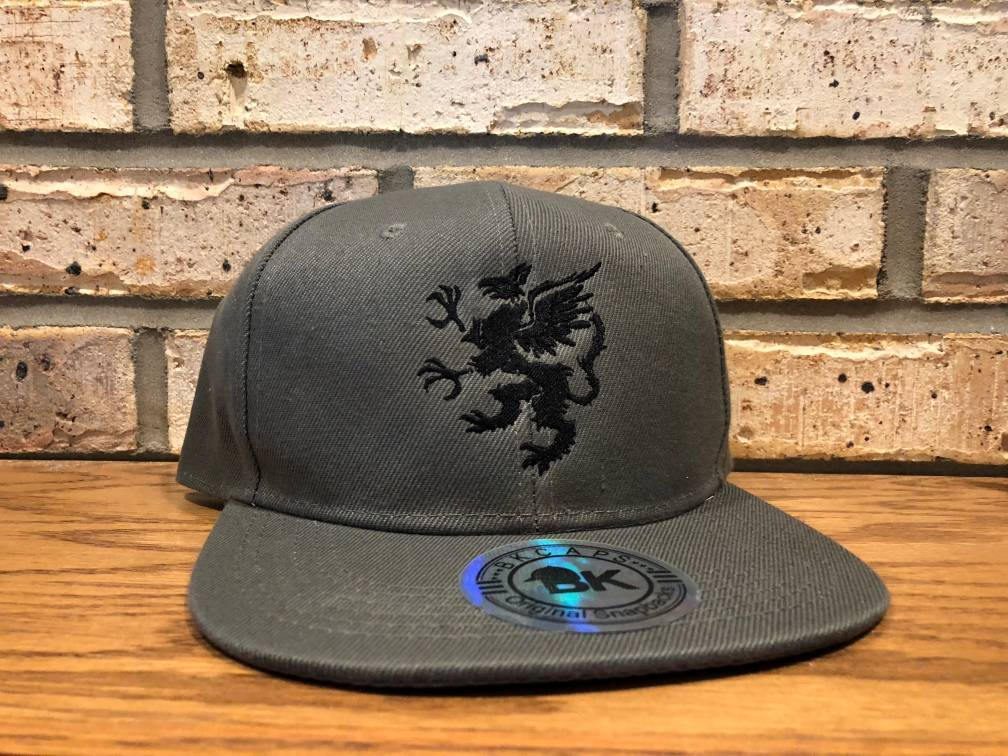 Griffin Embroidered Hat - Flat Bill, Baseball, Trucker, Fitted Hats, Griffin, Griffon, Gryphon Mascot Design, Eagle, Lion, Mythical Creature