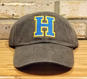Varsity Letter Hat - Embroidered Any Letter College Varsity Font Baseball or Trucker Hat, Custom Letterman Cap, Sports Team, University Hat