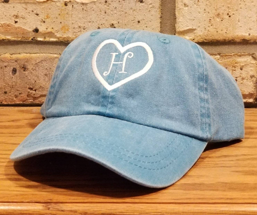 Children's Monogrammed Heart Baseball Hat