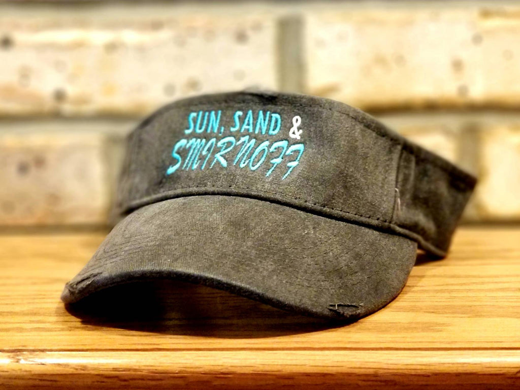 Sun, Sand, and Smirnoff Visor - I'll Bring The Alcohol and Bad Decisions, Girls Trip, Summer Vacation, Custom Party, Drinking, Beach Hat