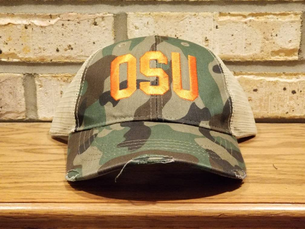 Embroidered OSU Hat, Oklahoma State University, Ohio State University, Custom Hats, Spiritwear, Personalized, Monogrammed, Back to School