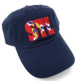 STL Hat - Embroidered St. Louis City Flag Airport Code Hat, Saint Louis, Gateway City, The LOU, Cardinals, Custom Baseball and Trucker Hats