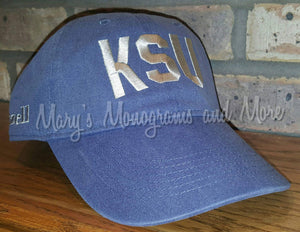 Any School Letters Airport Code Hat, Embroidered University Letters Cap, Personalized Spiritwear, Monogrammed Custom School Spirit Wear Hats