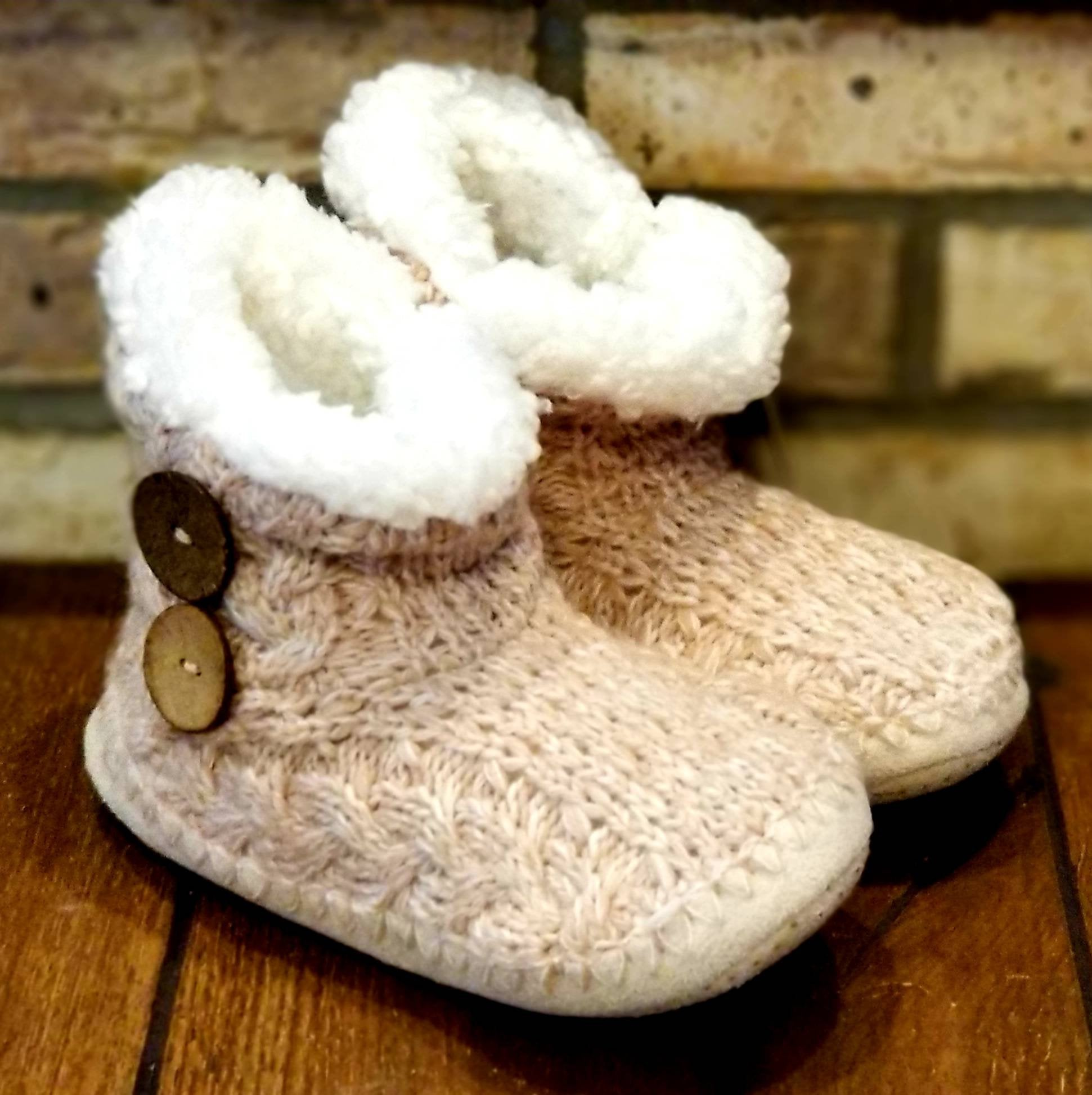 Monogrammed Sherpa Lined Slippers