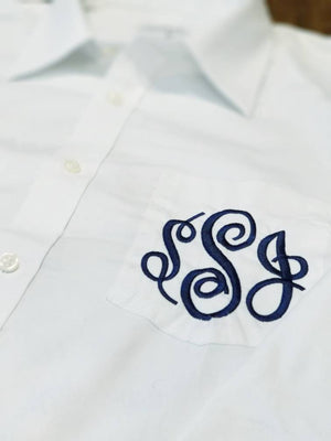 Monogrammed Wedding Day Bride Shirt, Embroidered Bridal Party Men's Button Up Shirt, I Do, Wedding Date,