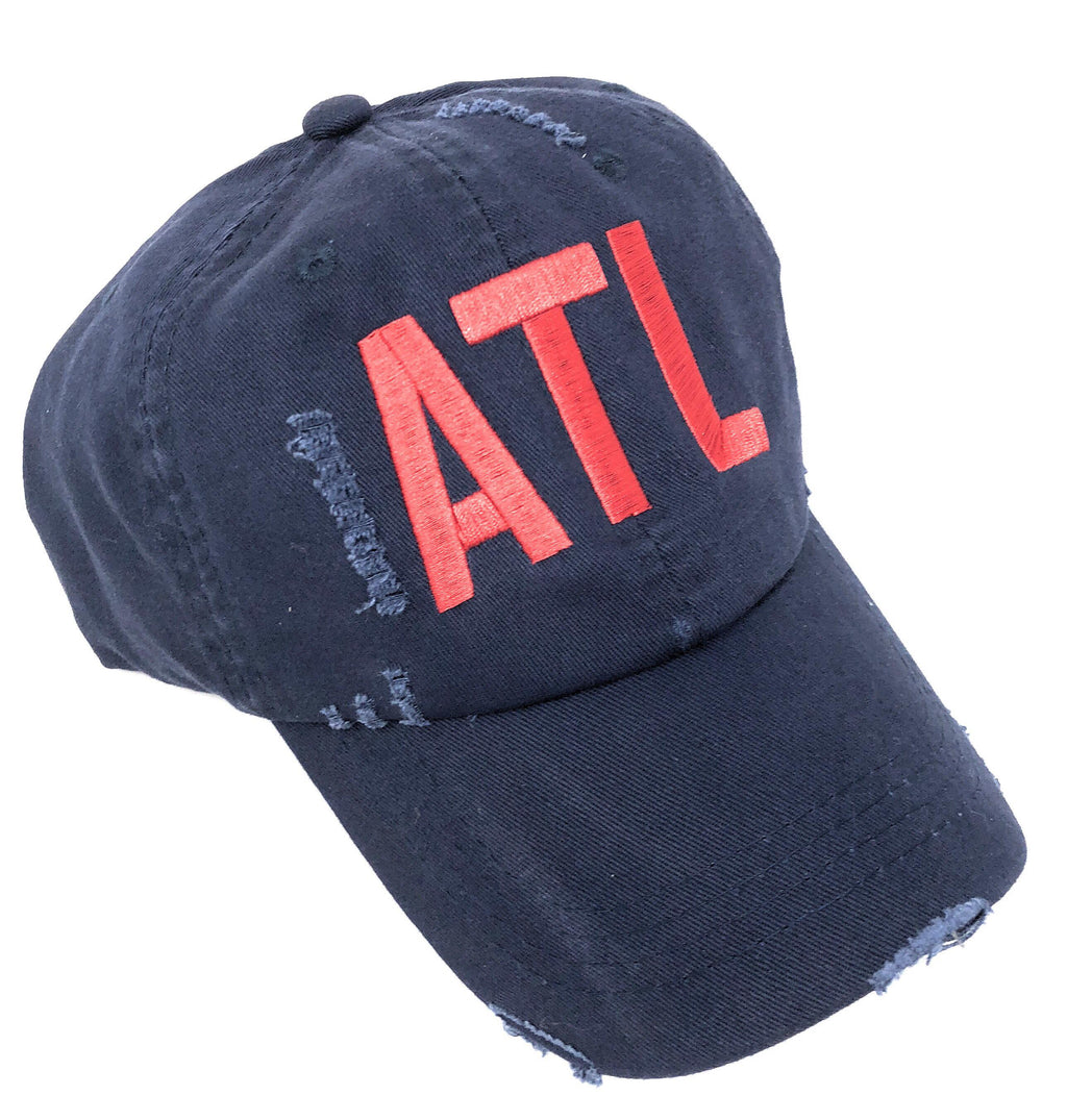 Any City Airport Code Distressed Baseball Hat