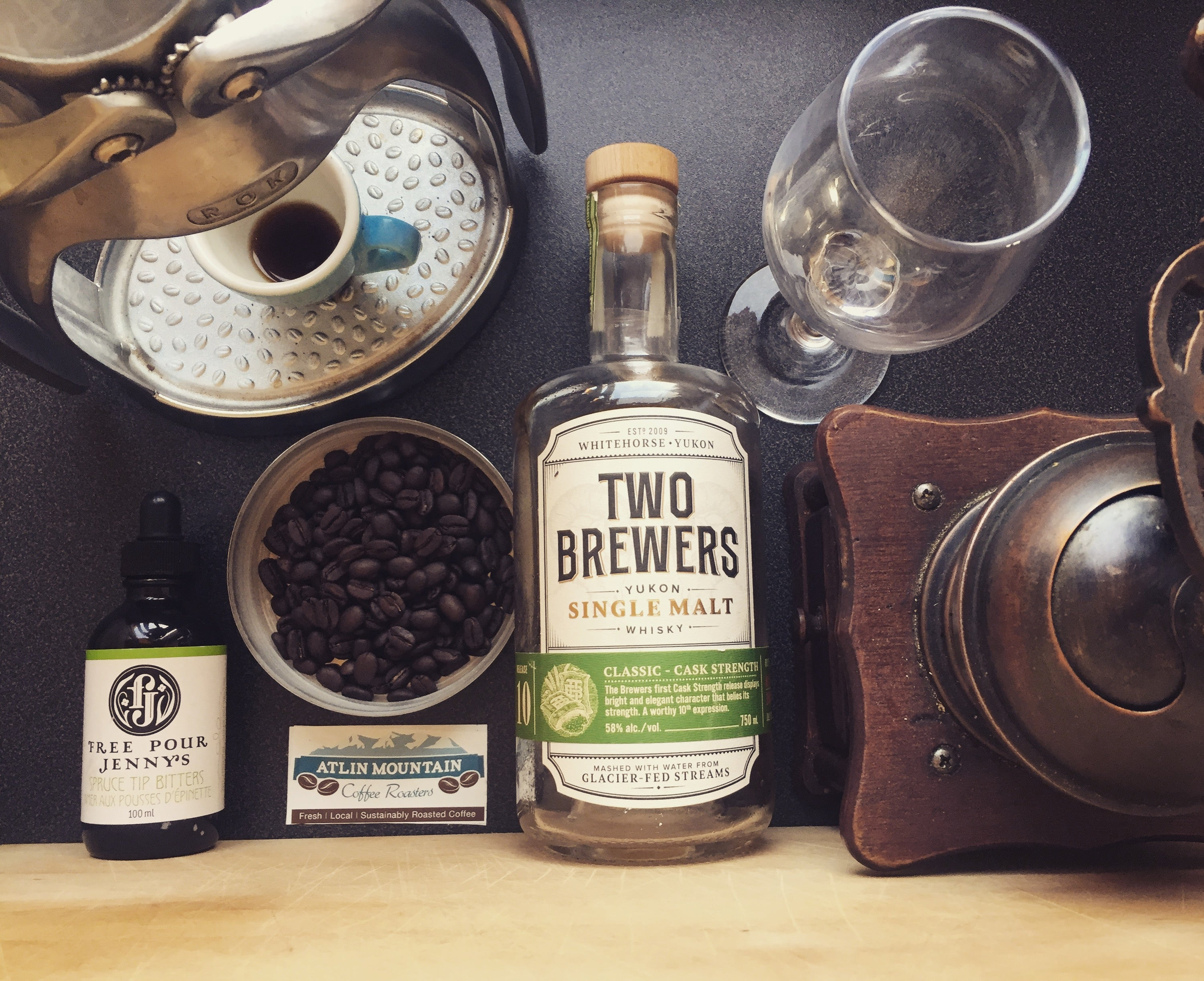 Kissed by the north Whiskey barrel aged Irish coffee