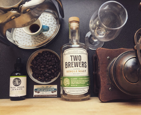 whiskey barrel aged coffee cocktail kissed by the north