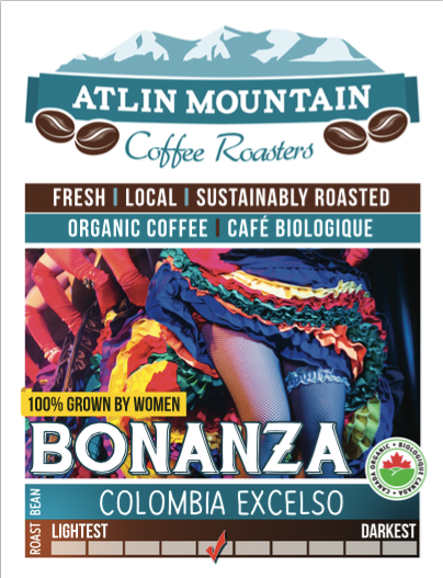 Columbia Excelso, Medium Roast - Atlin Mountain coffee Roasters
