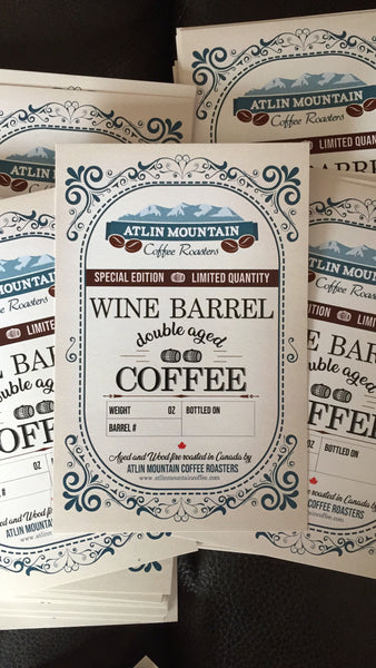 NEW Wine barrel aged coffee, double aged, release 1