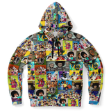 Black Cartoon Collage Hoodie