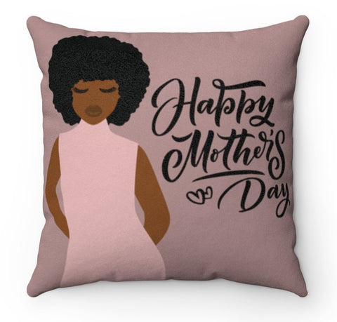 Happy Mother's Day - Faux Suede Square Pillow