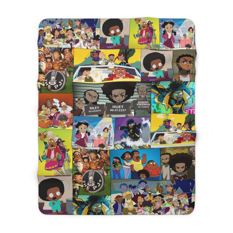 Black Cartoon - Sherpa Fleece Blanket