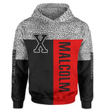 Malcolm X Red Classic Hoodie