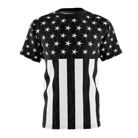 Black And White Flag Tee - Melanin Apparel