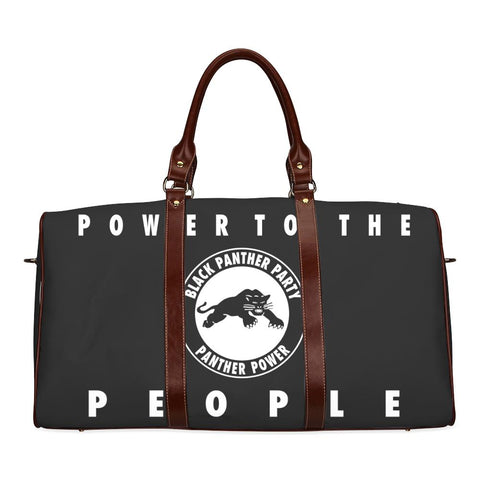 Black Panther Party Large Waterproof Travel Bag - Melanin Apparel