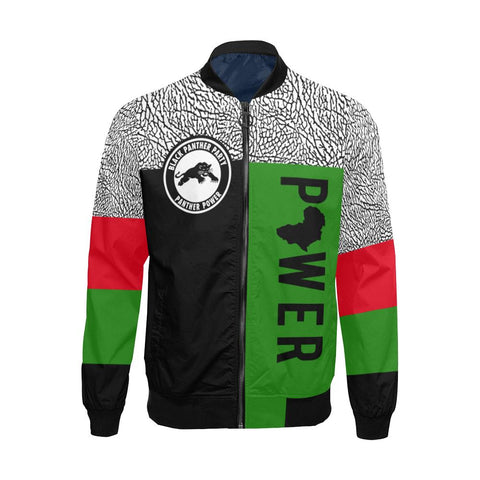 Black Panther Power Bomber Jacket - Melanin Apparel