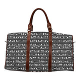 Egyptian Hieroglyphs Large Waterproof Travel Bag - Melanin Apparel
