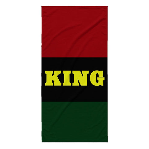KING BEACH TOWEL - Melanin Apparel