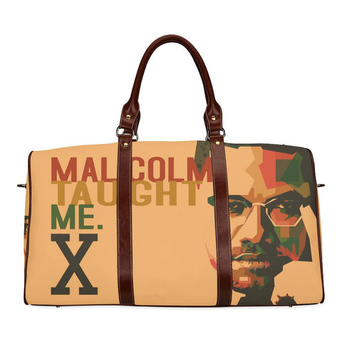 Malcolm Taught Me Large Waterproof Travel Bag - Melanin Apparel