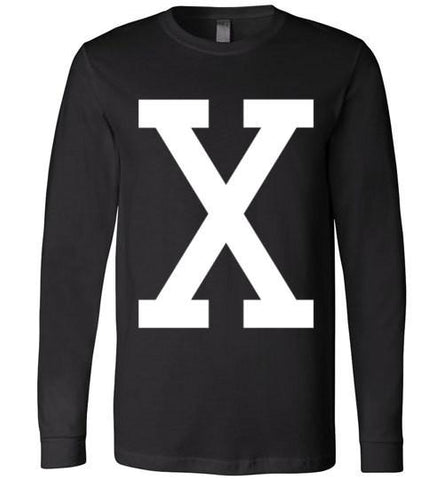 "Malcolm ""X"" retro Long Sleeve Tee - Melanin Apparel"