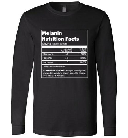 Melanin Nutrition Facts - Melanin Apparel