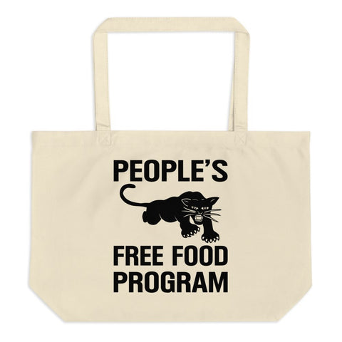 People's Free Food Black Panther Party Large organic tote bag - Melanin Apparel