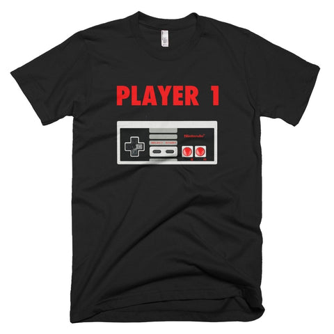 Player One Classic Nintendo Retro Tee - Melanin Apparel