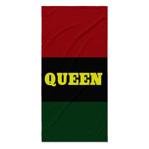 QUEEN BEACH TOWEL - Melanin Apparel