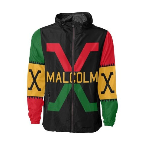 Retro Malcolm X Windbreaker - Melanin Apparel