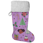 Melanin Princess Christmas Stocking