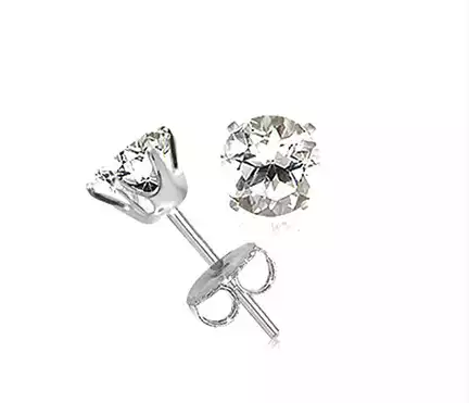 Tanya's Bath and Body 2 Carat CZ Superstar Sparkle Studs Ear Rings in Sterling Silver 2 Carat CZ Superstar Sparkle Studs Ear Rings in Sterling Silver